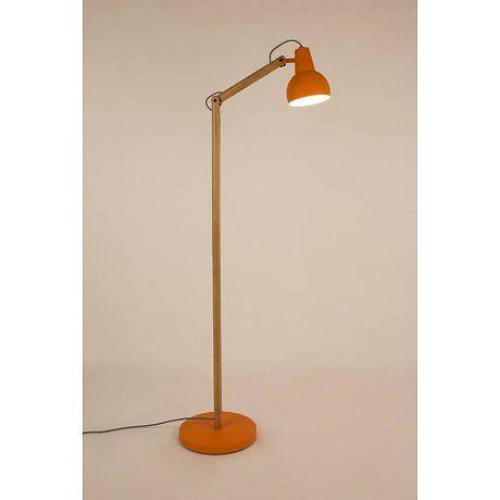 Zuiver Vloerlamp Study hout metaal oranje 59,5x30x166cm