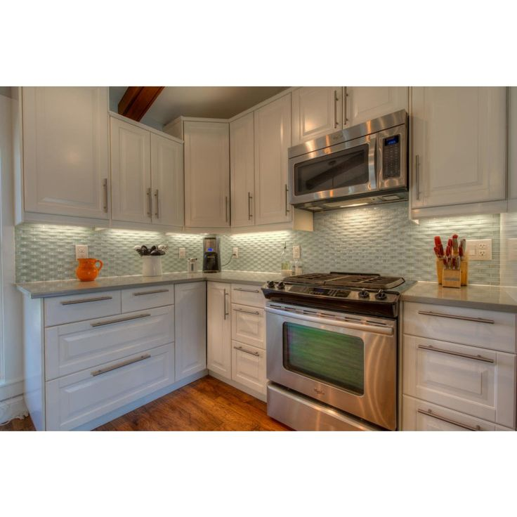 Green Kitchen Backsplash Ideas: Loft Crescent Seafoam Green Glass Tiles