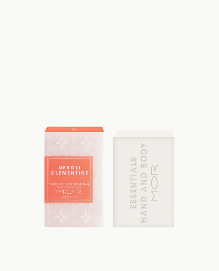 NEROLI CLEMENTINE TRIPLE-MILLED SOAP A fragrant Triple-Milled Soap Bar containing Shea Butter & Vitamin E to nourish the skin. The Fragrance: Fresh Neroli and sweet Clementine rest atop a base of bright Yuzu and candied Orange.