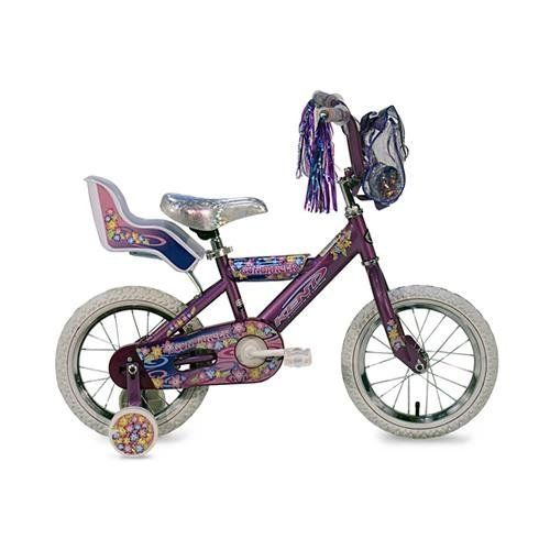 Kent Sundancer Girls' Bike (14-Inch Wheels) by Kent. $82.49. The  Sundancer comes equipped with 14 inch wheels a quick release seat post clamp for easy saddlel adjustments, a doll carrier and training wheels. For ages 4-7. Save 18%!