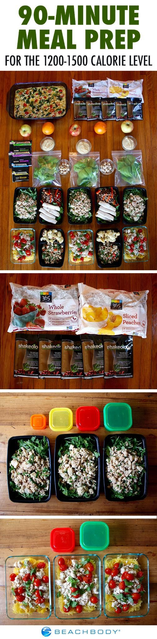 No time? No problem! Prep all your meals for the week in just 90 minutes or less with this meal prep plan. // 21 Day Fix // beachbody // beachbody blog