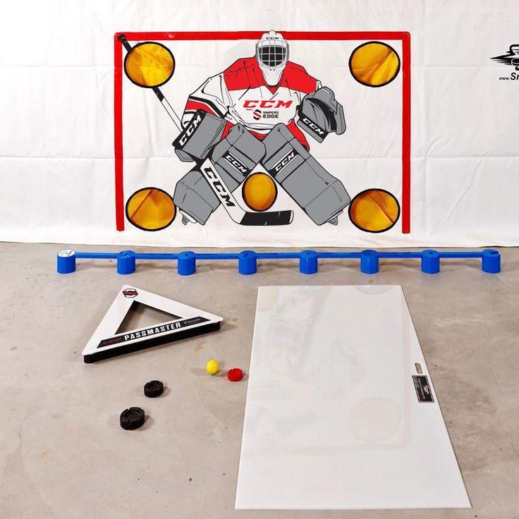 "Gold Shooting Training Package  Shooting Tarp  Shooting Pad 60"" x 30"" PassMaster Sweet Hands Speed Ball Sweet Hockey Ice Ball MoveMaster 3 Puck Set"