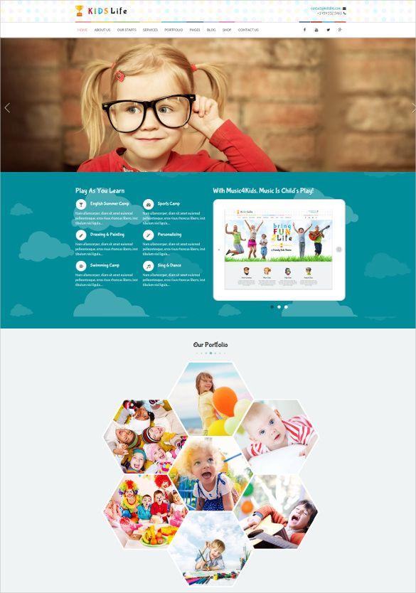 Free Premium Templates Fun Website Design Google Website Website Creation