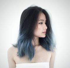Image result for asian ombre medium hair straight                                                                                                                                                                                 More