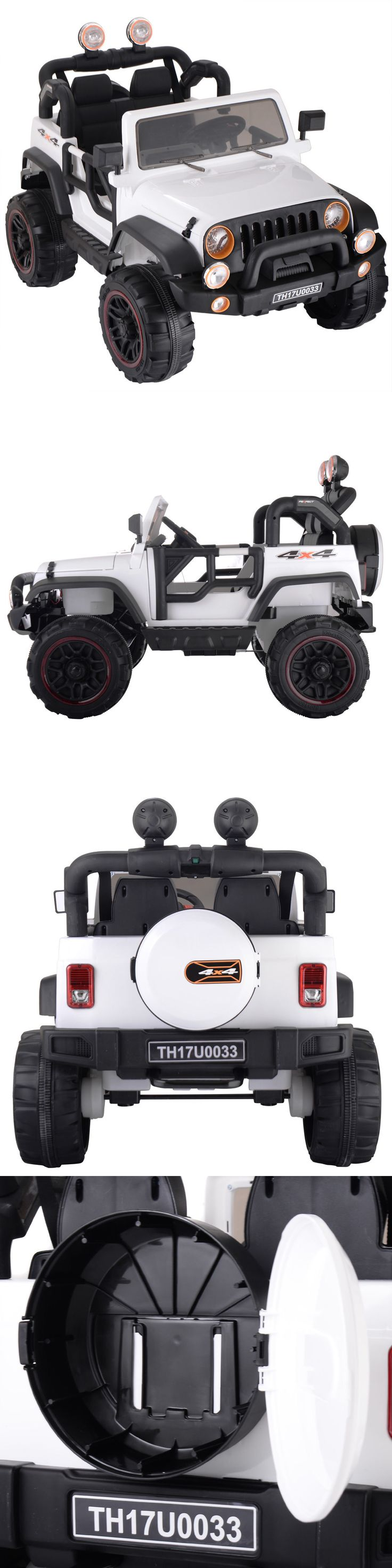 Ride On Toys and Accessories 145944: 12V Jeep Style Kids Ride On Battery Powered Electric Car W Remote Control White -> BUY IT NOW ONLY: $248.99 on eBay!