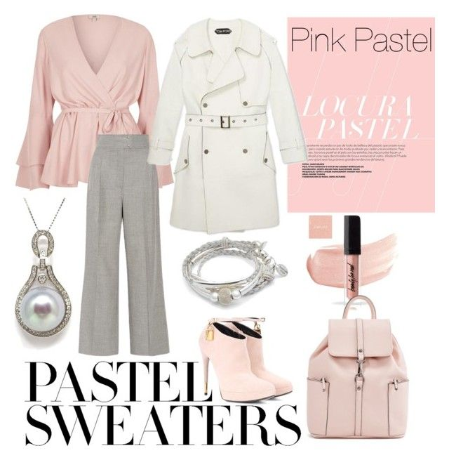 """""""Pink Pastel"""" by inauniqe on Polyvore featuring Casasola, Tom Ford, Lizzy James and pastelsweaters"""