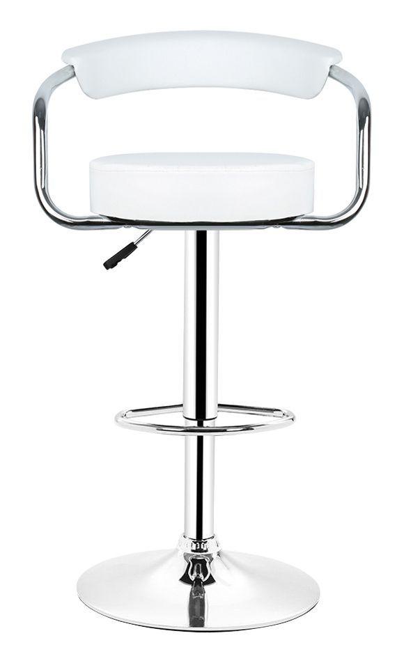 2pcs Tabourets De Bar Simili Cuir Chaise Haute De Bar Avec Hauteur Reglable Et Repose Pieds Chaise De Cuisine Pivotante Blanc Sy Chair Bar Stools Boho Chair