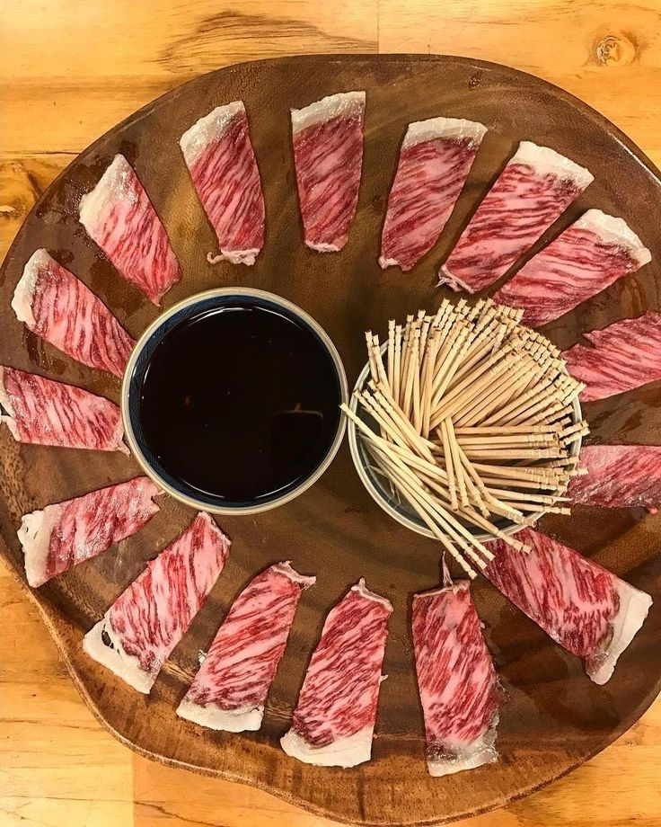 Great looking appetizer platter here.  What sauce do you think would pair well with this wagyu? . . Shout out to @plabaki. . . . . #Barbecue #BBQ #BBQLife #BBQPorn #Carne #Carnivore #Food #Foodgasm #Foodie #Foodiegram #FoodPhotography #FoodPics #FoodPorn #Foodstagram #ForkYeah #GlutenFree #Grill #GrillingOut #GrillMaster #Grilling #GrillPorn #Instafood #Meat #BBQandBottles #buzzfeast #Wagyu #WagyuBeef #Kobe #KobeBeef #Marbling
