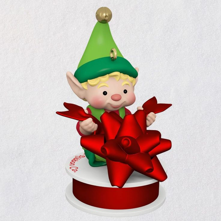 2019 North Pole Tree Trimmer Hallmark Christmas Ornament