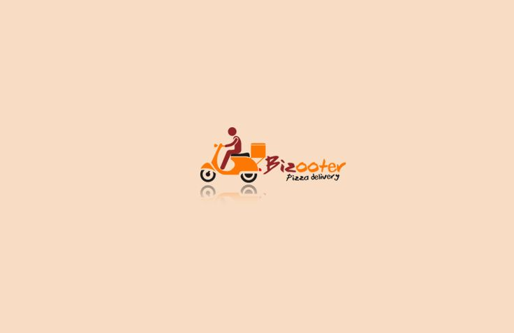 Bizooter is a 24 hours pizza delivery service based logo. which clearly depicts pizza delivery and speed.