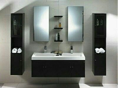 the dolciano is a modern bathroom vanity set that embraces the latest trend in luxury modern bathroom design
