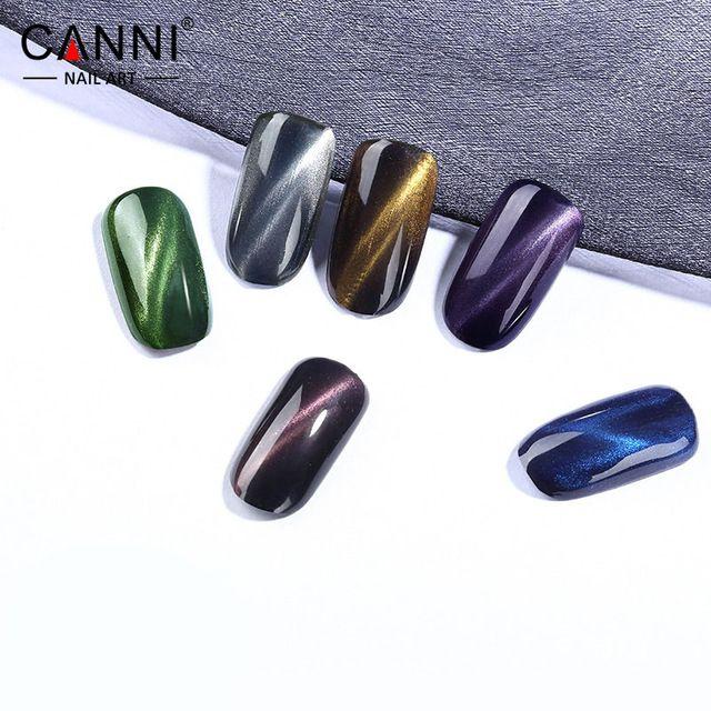 #61509  CANNI 6 colors  Metal Chameleon Colors Change Color Cat Eyes Gel Polish top coat, Magnetic Cat Gel Polish top coat*1pc