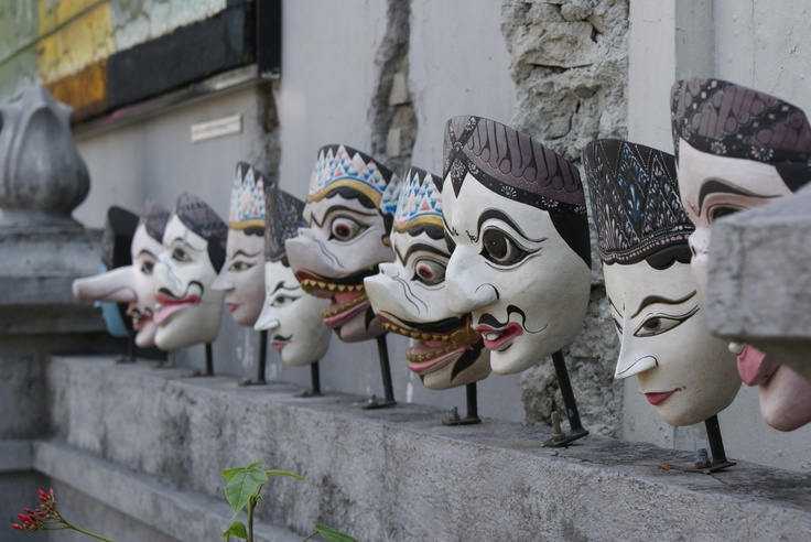 Masks from Solo, Indonesia #Solo #Indonesia #masks