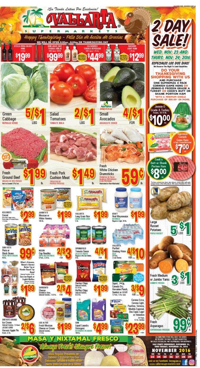 Vallarta Weekly Ad Flyer November 23 - 29, 2016 - http://www.olcatalog.com/grocery/vallarta-weekly-ad-fleyer.html