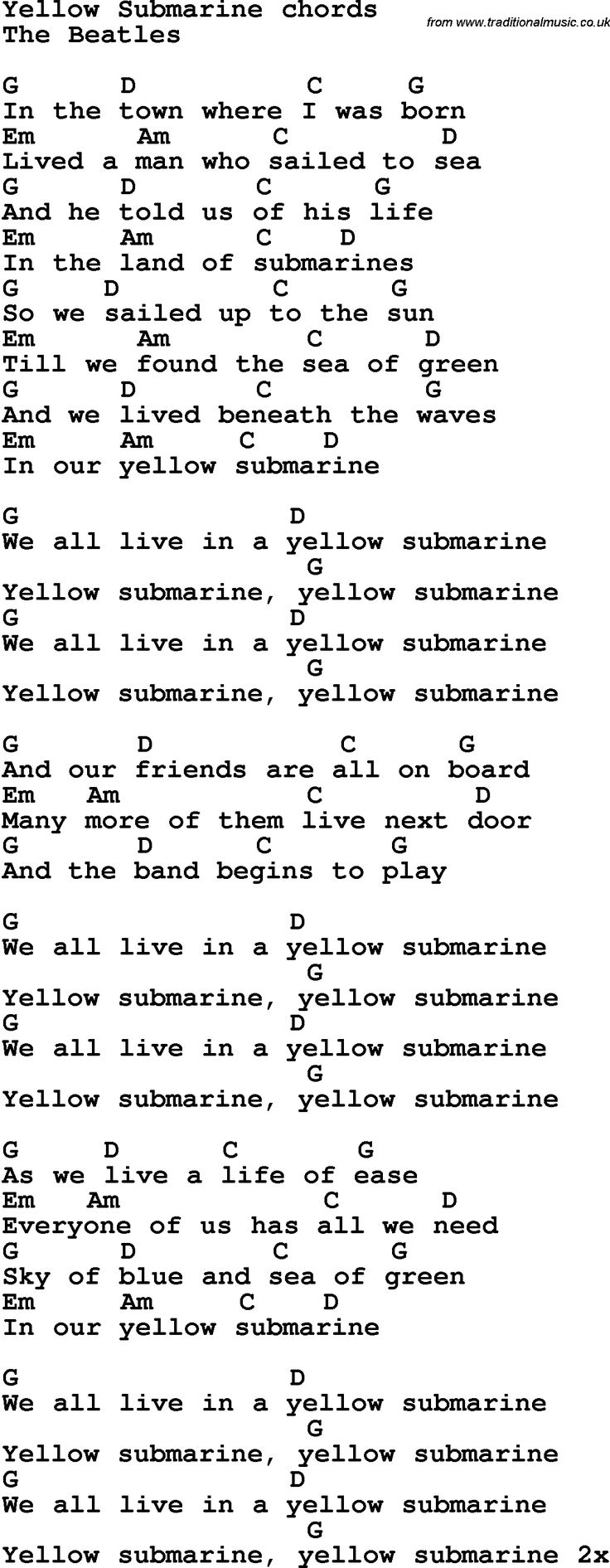 Best 25 yellow guitar chords ideas on pinterest ukulele this is my favorite song by the beatles hexwebz Image collections