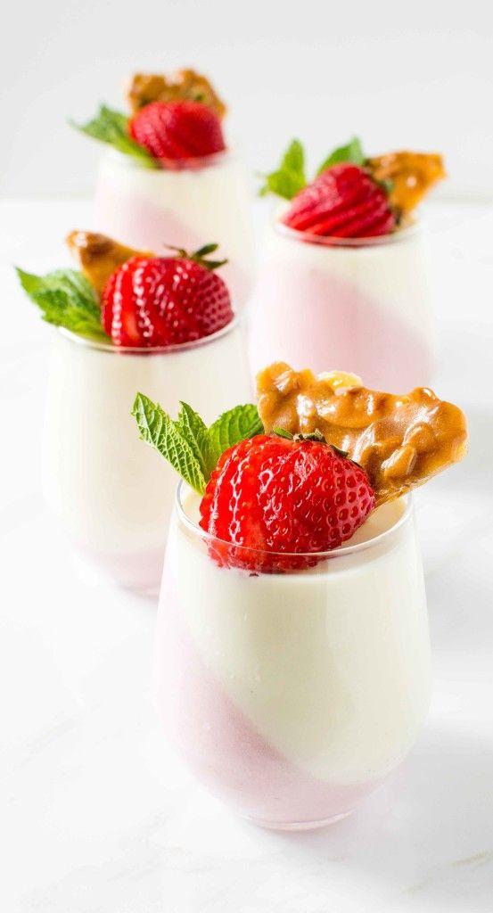 Strawberry Lemon Panna Cotta Http Www Chocolateandconnie Com Strawberry
