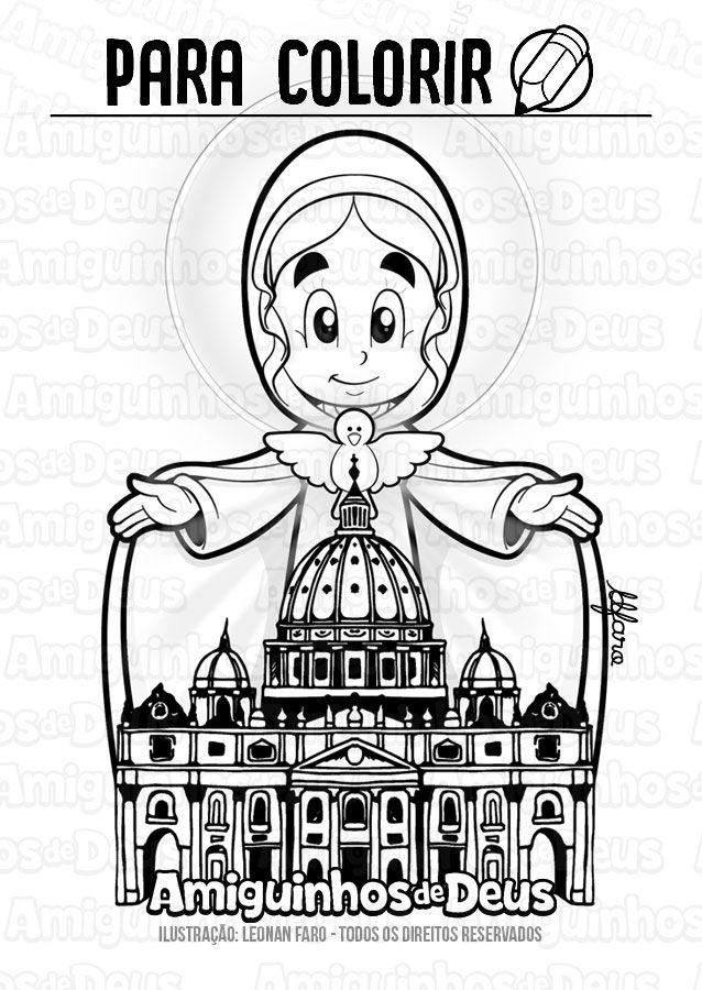 Maria Mae Da Igreja Desenho Para Colorir Mae Da Igreja Maria