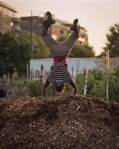 Daniel Shea's photo of a chicago teen hip hop dancer's performance with city farm, a chicago urban farm.
