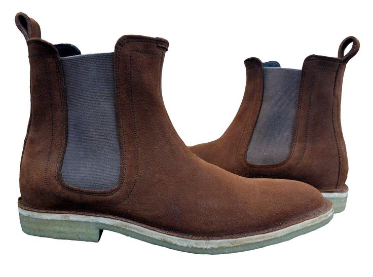 New Handmade chelsea boots, men rust color boots, crepe sole suede leather boot | eBay