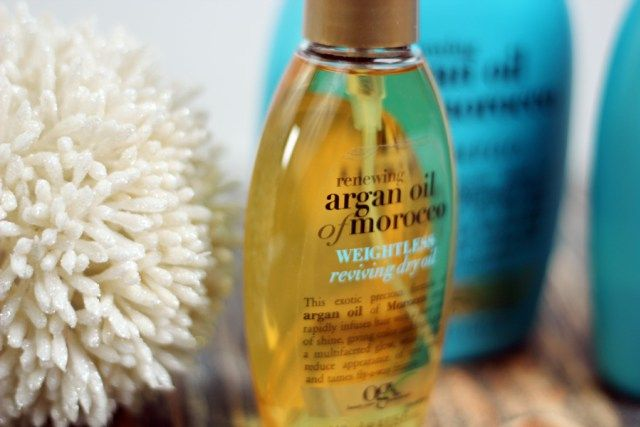 Review OGX Renewing Argan Oil of Morocco Shampoo Conditioner Oil