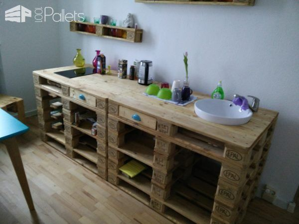 Mini Pallet Kitchenette For The Office