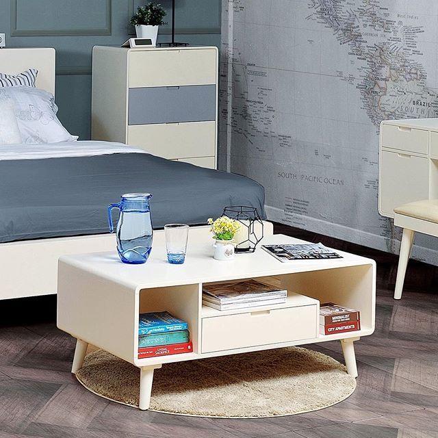 Flint Coffee Table 100 50 42 Cm Tinggi Kaki 15 Cm Tebal Laci 12 Cm Meja Sofa Berukuran Cukup Besar Dengan Bedroom Furniture Design Furniture Online Furniture