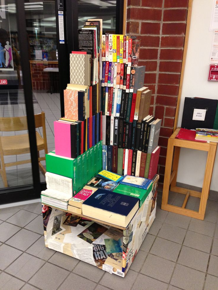 Book Chair sculpture by Stephanie Hewett, May 2011  Currently on display at the Rotterdam branch of the Schenectady County Public Library