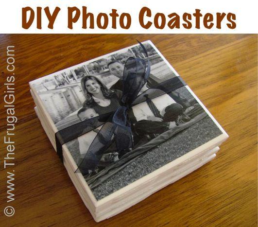 DIY Photo Coasters Wedding Favor Craft