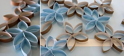 Wall Art made from recycled toilet paper tubes. Very cute idea. Paint them different colors and use in a teenagers or child's room.: Wall Art, Toilets Paper Tube, Wall Decor, Toilets Paper Rolls, Tp Flowers, Imperfect Perfect, Flowers Projects, Paper Flowers, Paper Rolls Art