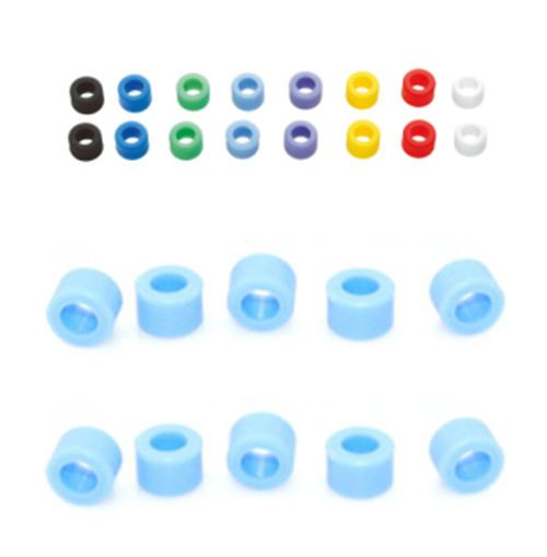 100 Pcs Light Blue Color Small Type Dental Silicone Instrument Color Code Rings  #Shaind2014