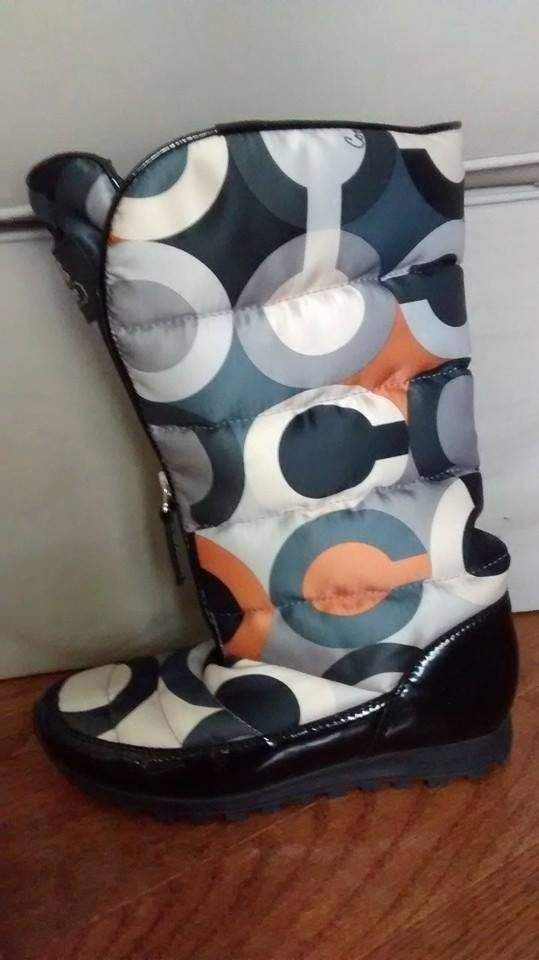 Coach quilted boots for sale