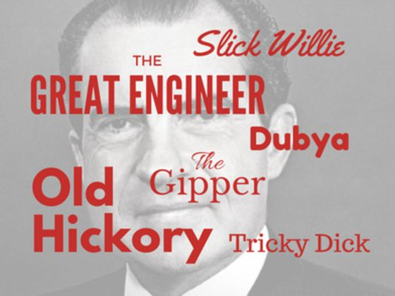 The Great Engineer, the Gipper, Old Hickory ... match the president to his nickname!