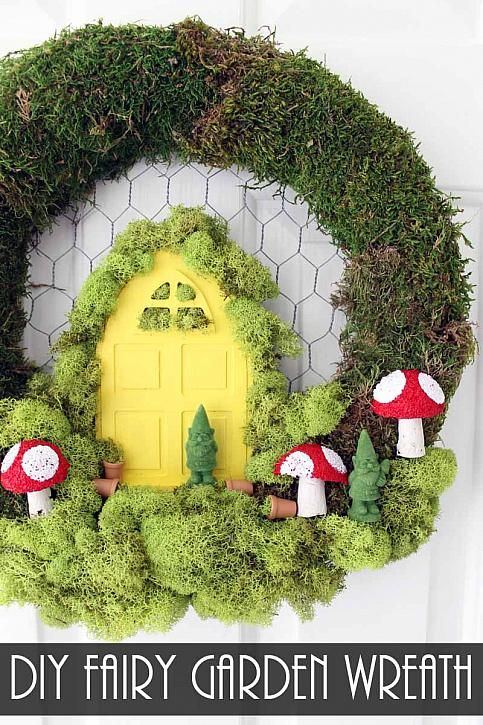 DIY Fairy Garden Wreath