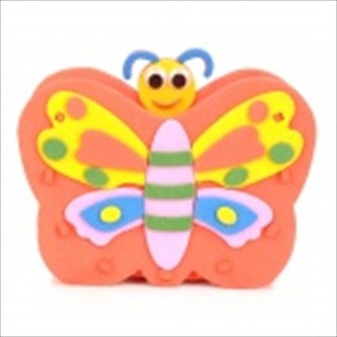 HD7 Butterfly Style EVA DIY Pen Holder - Orange + Yellow + Multicolored $4.67