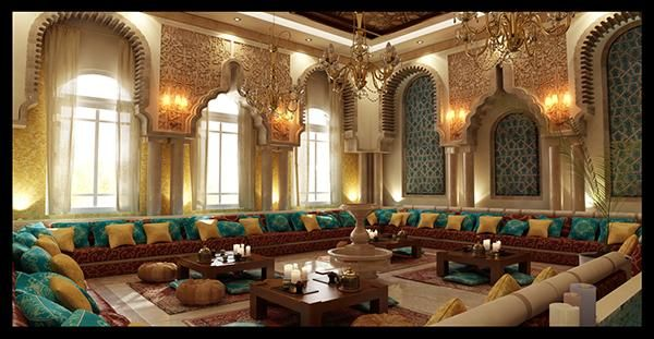 كنبات مجالس رجال ونساء فخمة مغربي وخليجي قصر الديكور Elegant Interior Design Home Entrance Decor Mansion Interior