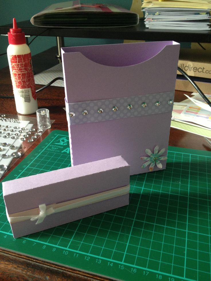 super cute diamond box lilac. made with silhouette cameo designer edition.
