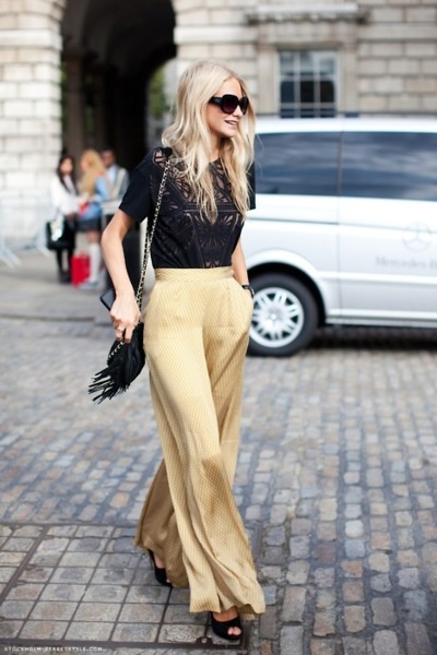 Very Brigitte Bardot. Perfectly tailored pants. Skinny jeans, get thee hence...