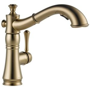 Delta Faucet D4197CZDST Cassidy Pull-Out Spray Kitchen Faucet - Champagne Bronze