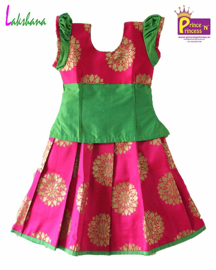 Designer Pattu Pavadai . Grand Pavadai for Special Occasion . Pattu Langa . kids ethnic wear