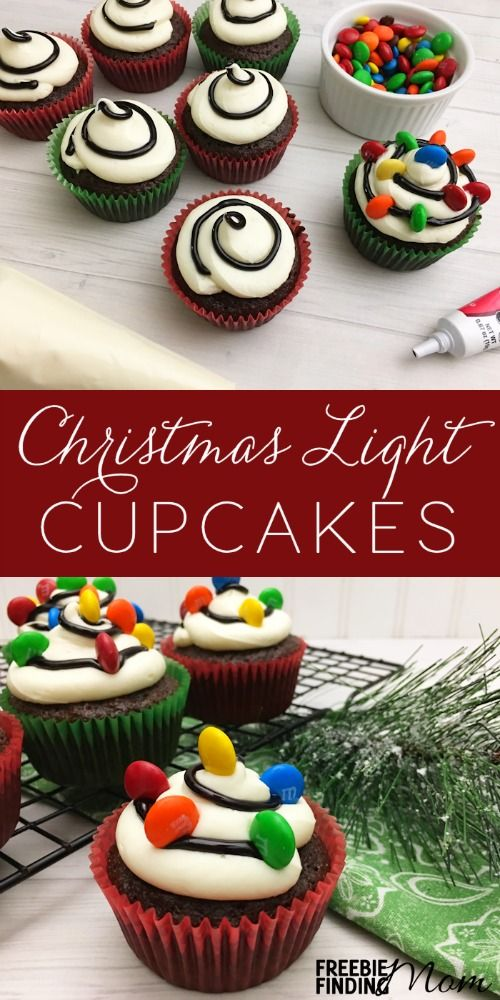 Why do Christmas cookies get all the attention during the holidays? It's about time we welcome in more Christmas desserts like this fun Christmas cupcake idea. Here you'll learn how to quickly and easily transform a chocolate cupcake mix into Christmas Light Cupcakes using store bought icing and M&M's. It's a great recipe to make with the kids!