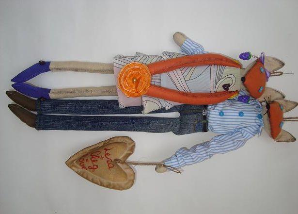 Лиса - мягкая игрушка с выкройкой