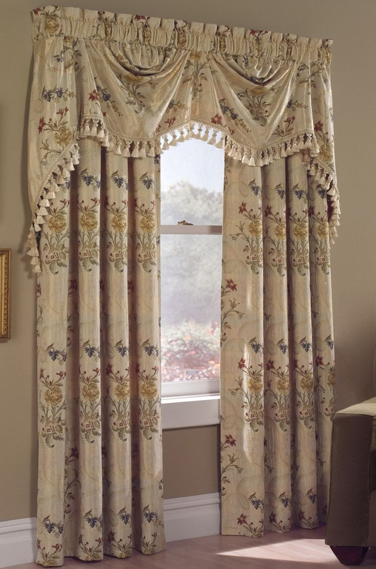 living room window valance ideas%0A Country Jewel Curtains for Living Room