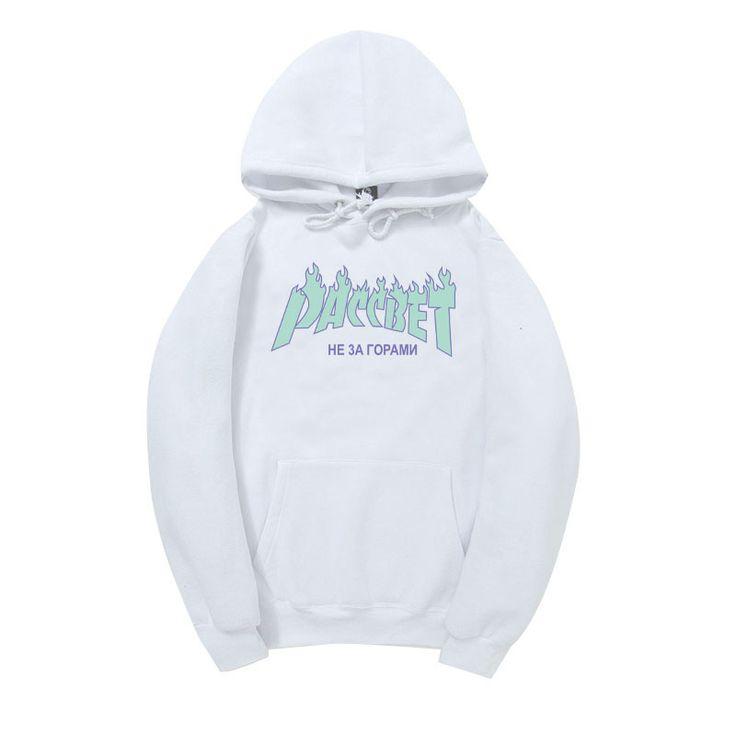 Gosha Rubchinskiy High Quality 1:1 Cotton Paccbet Hoodies Men Winter New Thick Plus Velvet Fleece Sweatshirts Mens Letter //Price: $40.74 & FREE Shipping //     #WallArt