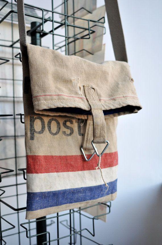 Canvas Shoulderbag / Postbag / Postal Mail Bag Messenger / Vintage on Etsy, Sold