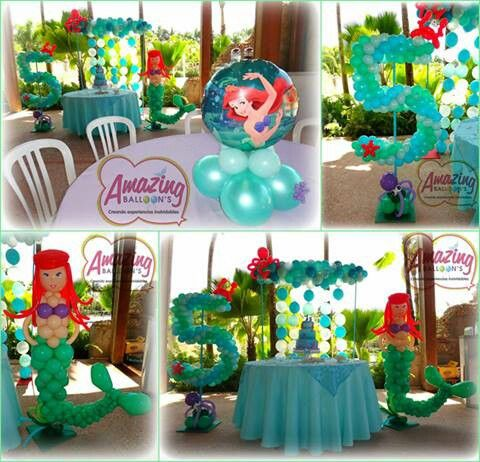 161 best images about balloons under the sea on for Ariel decoration ideas