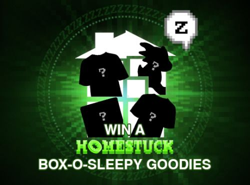 Win a box of Homestuck goodies that may or may not help you... sweepstakes IFTTT reddit giveaways freebies contests