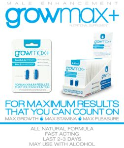 "GrowMax is a fast-acting natural supplement but the effects are similar to Viagra prescription ... Yes, this product is really effective but it might not be safe since it's an extra strength to ""Max Growth"" on penis size . #Must-See-Grow-Max  http://becomingalphamale.com/growmax-plus-review-max-growth-from-male-enhancement-pills"