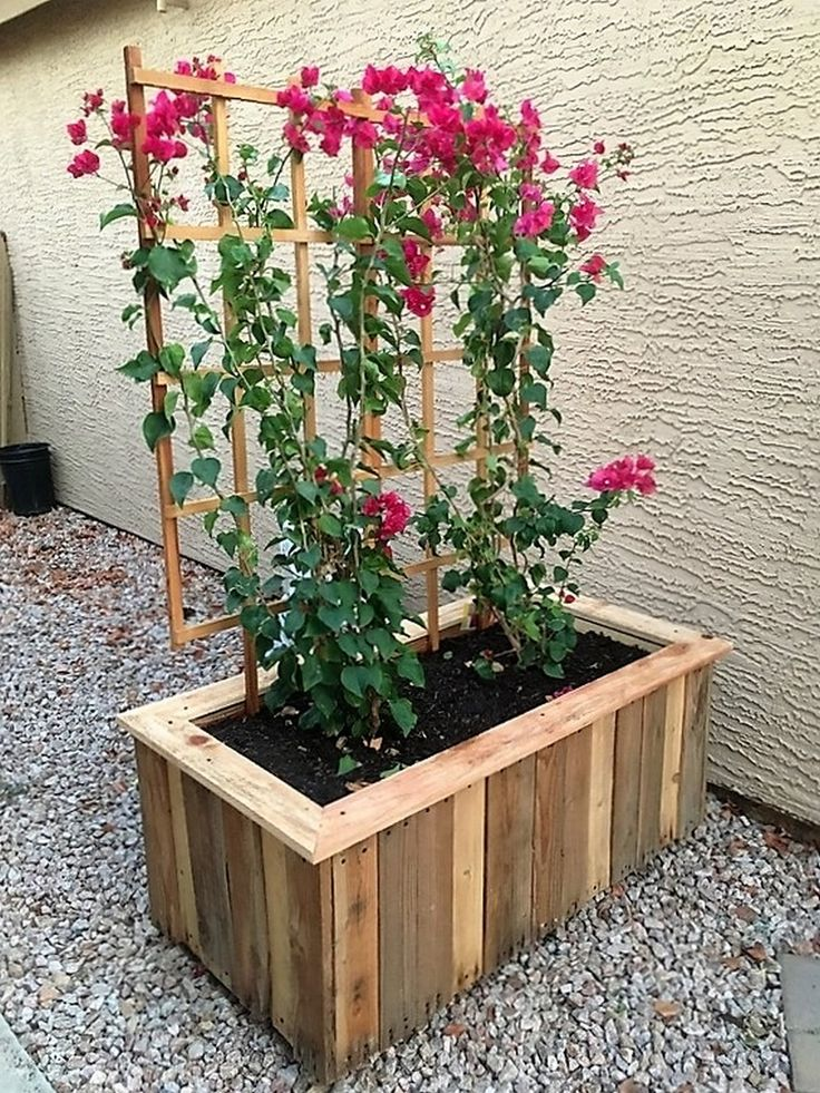 Pallet Planter Part - 18: DIY Pallet Planter Project - When Picking The Right Plant, The Result May  Look Just Perfect For Your Yard. You Can Also Finish Your Planter With Nice  Colors