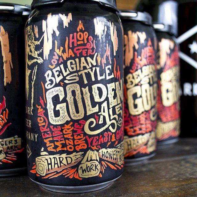 Belgian Style Golden Ale #packaging