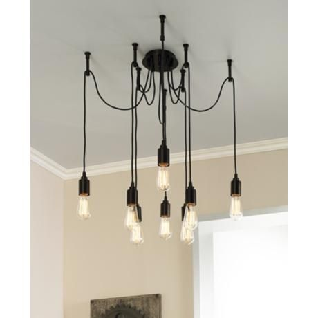 Europa 1910 Edison Bulb Bronze Multi Light Pendant